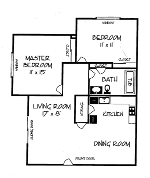 Greenfield Apartments 2 Bedroom Layout